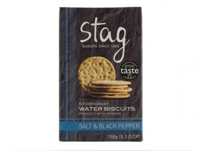 Stag Salt and Black Pepper Water Biscuits