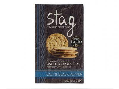 Stag Salt & Black Pepper Water Biscuits