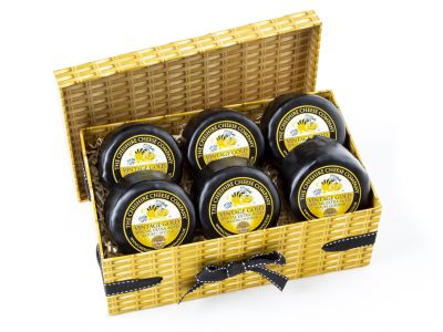 6 x Vintage Gold Extra Mature Cheddar 200g Wax Truckles Multi Buy