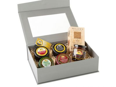 Cheese Lovers Grey Hamper Gift Box
