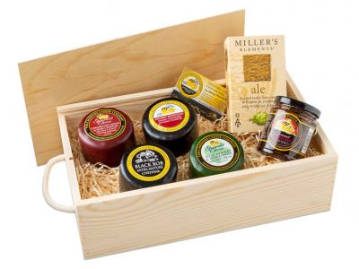 Cheese lovers wooden gift box