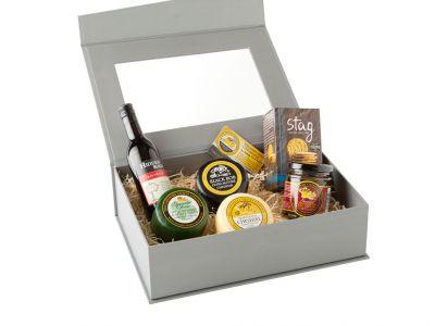 Cheese & Wine Lovers Grey Presentation Box