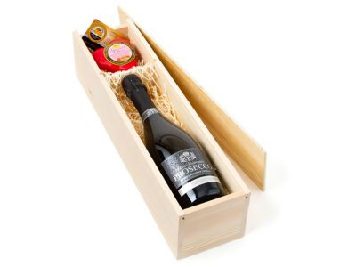 Prosecco and Strawberry Cheese Gift Set