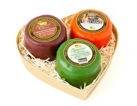 Mini Hearts Trio, Gourmet Cheese Selection