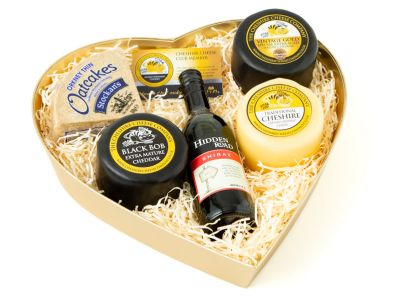 Traditional Cheese and Wine Gift Box