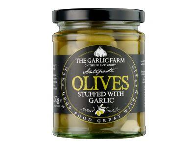 Olives Stuffed with Garlic, The Garlic Farm 190g