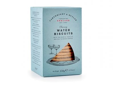 Cartwright & Butler Water Biscuits, Sea Salt & Black Pepper
