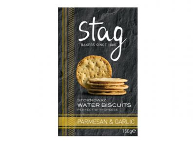Stag Parmesan and Garlic Water Biscuits