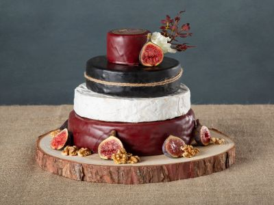 Cheese Wedding Cake with Brie