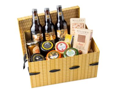 Gift hamper with beer for dad