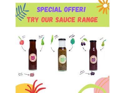 Trio of Sauces from Fruits of the Forage