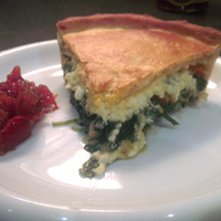 Cheshire Cheese with Spinach Pie Recipe