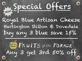 New Royal Blue Fruits of the Forage Hartington Stilton
