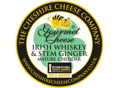 Irish Whiskey & Stem Ginger Cheddar Cheese 200g