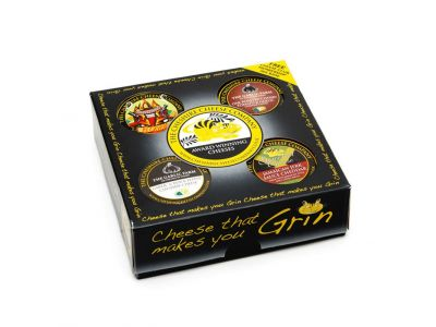 4 x Spicy & Garlic Cheese Waxed Truckles Gift Set