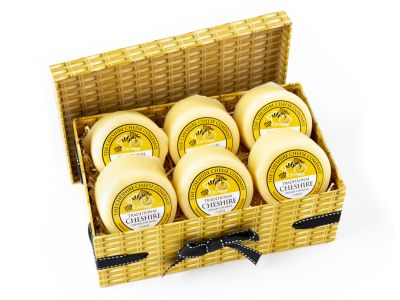 6 x Cheshire Creamy Traditional Cheese Wax Truckles 200g Multi Buy