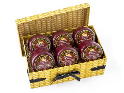 6 x Caramelised Onion & Rioja Cheddar 200g Wax Truckles Multi Buy