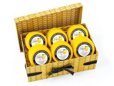 6 x Gin & Lemon Cheshire Cheese 200g Wax Truckles Multi Buy