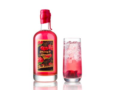 Cherry & Almond Gin Bottle Cheshire Gin Company Bakewell