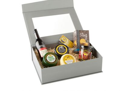 Cheese & Wine Lovers Grey Presentation Box