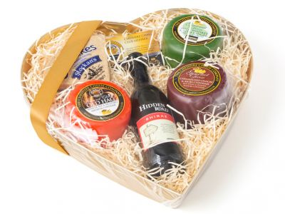 Cheese heart gift