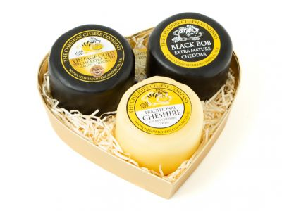 Mini Hearts Trio, Traditional Cheese Selection
