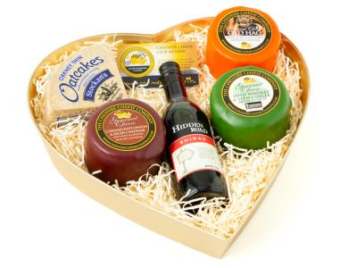 Sweethearts Cheese Hamper, Gourmet Cheese Selection