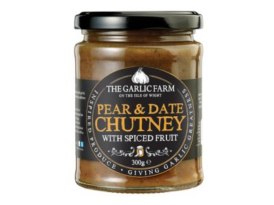 Pear & Date Chutney with Spiced Fruit, The Garlic Farm