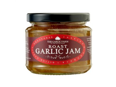 Roast Garlic Jam. Produced by the Garlic Farm, Isle of Wight