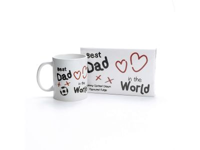 Best Dad in the World Mug & Fudge Gift