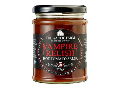 Garlic Farm Vampire Relish. Hot Tomato Salsa