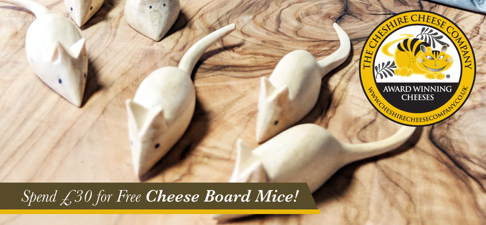 Wooden Cheese Board Mice
